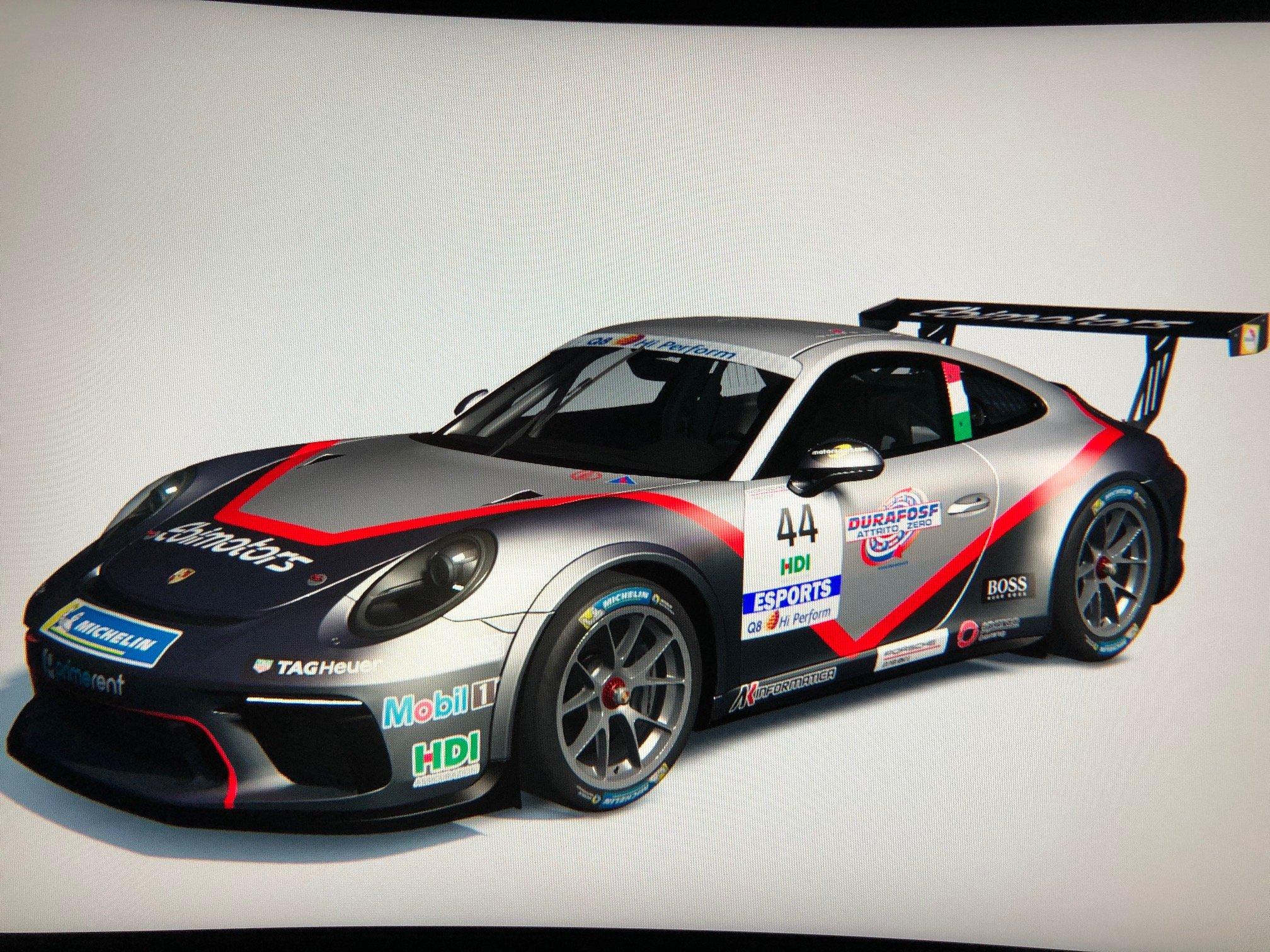 Ebimotors corre nella Porsche Esports Carrera Cup Italia