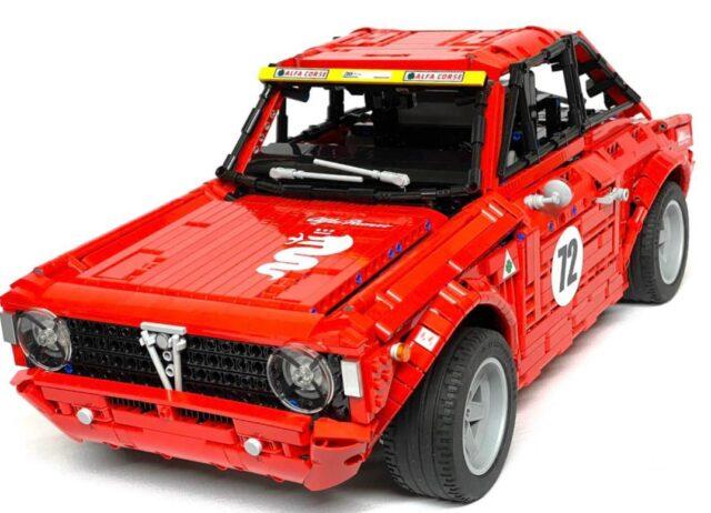 Nuova Alfa Romeo Giulia Sprint GTA, la sportiva creata con i Lego
