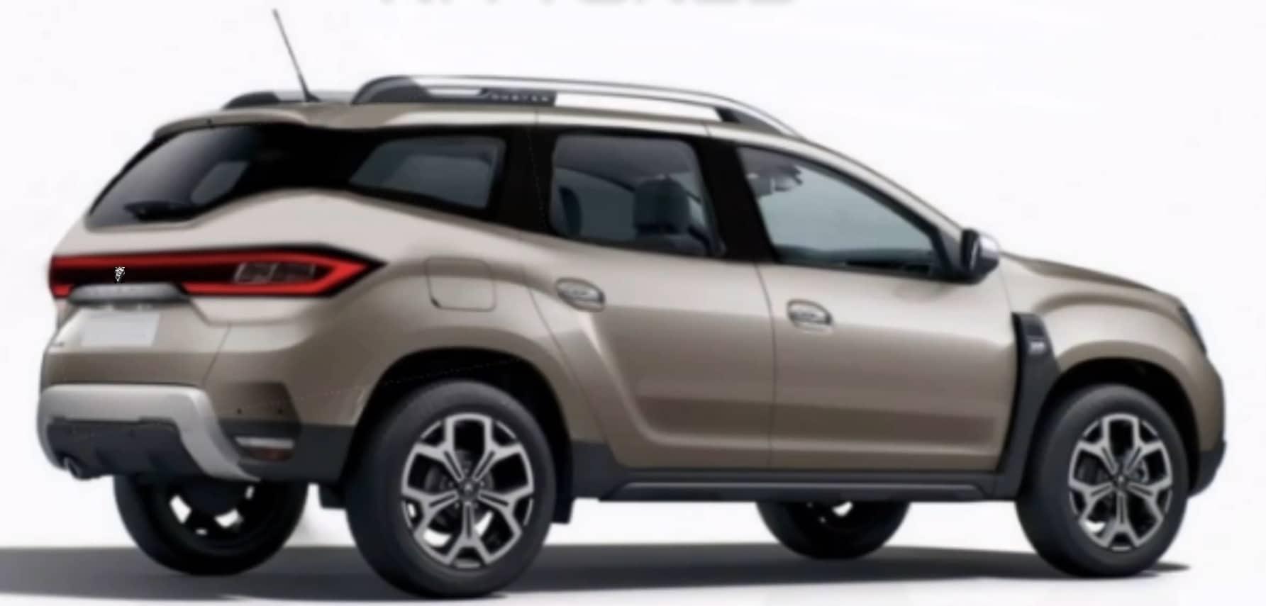 Nuova Dacia Duster 2021: render di un possibile restyling posteriore