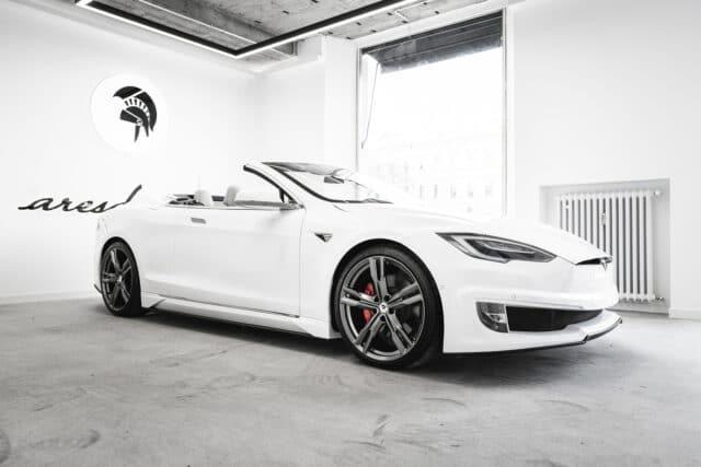 Tesla Model S Cabriolet, esemplare unico by Ares Design